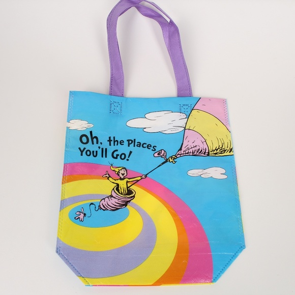 a2f8b9dd852d Dr. Seuss Oh the Places You'll Go! Tote Bag